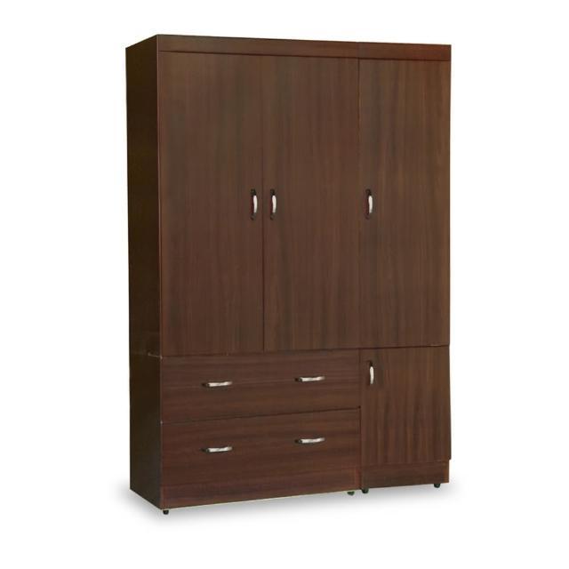 【時尚屋】無敵4x6尺衣櫥 5U7-180-461兩色可選(免運費 臥室 衣櫥)