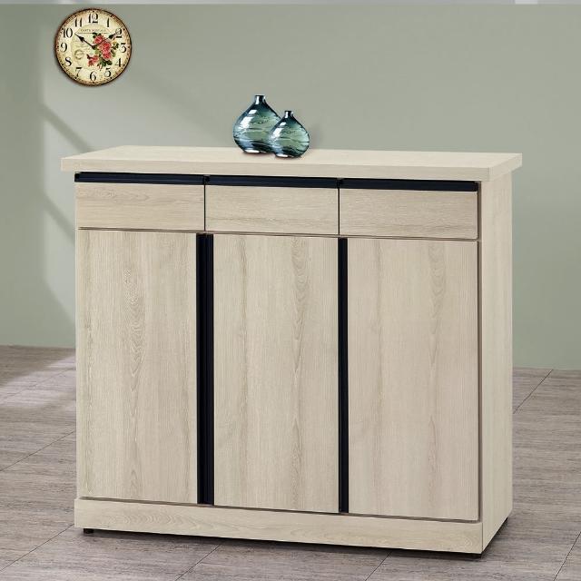 【樂和居】巴特白栓木工業4尺鞋櫃
