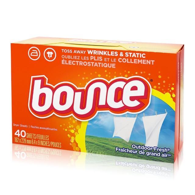 【美國進口 Bounce】烘衣柔軟片(40片)