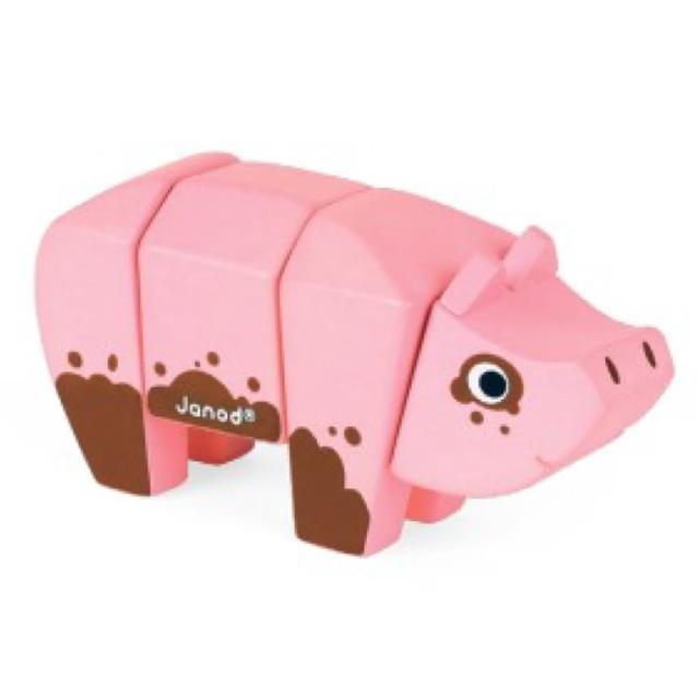 【法國Janod】立體動物拼-豬