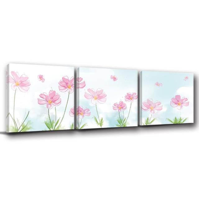 【123點點貼】三聯式無痕壁貼防潑水重覆黏貼不殘膠藝術創意壁飾-30x30cm(1811945-3a)