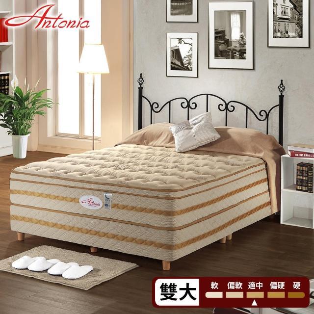 【Antonia】三線 背柔 五段式獨立筒床墊-雙人加大6尺(高蓬度+天絲棉+德國乳膠)