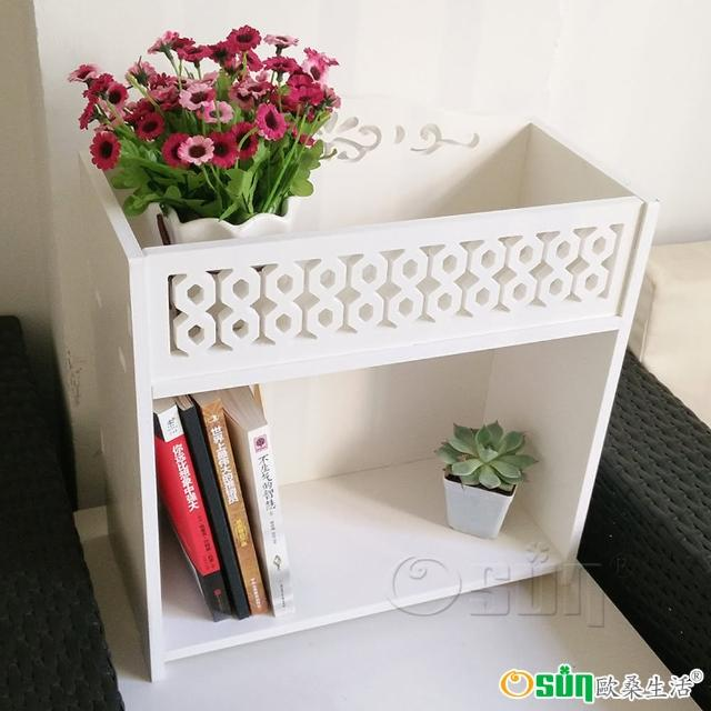 【Osun】DIY木塑板 桌上花架放納架 二入組(CE178- HJ005)