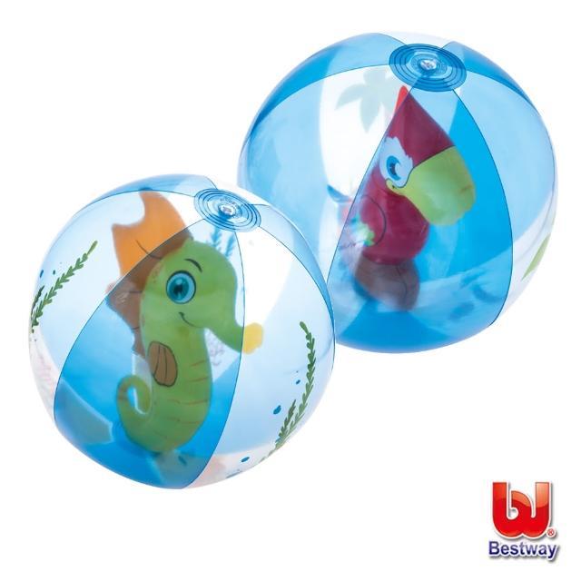 【酷博士】Bestway。20吋可愛動物充氣球-水球-海馬-鸚鵡-隨機出貨