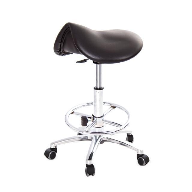 【吉加吉】馬鞍型 工作椅 TW-T05 LUXK(電金踏圈款)