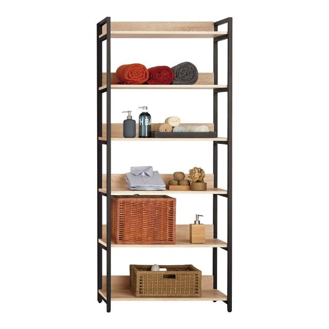 【Bernice】裴拉2.7尺開放式多層收納衣櫃