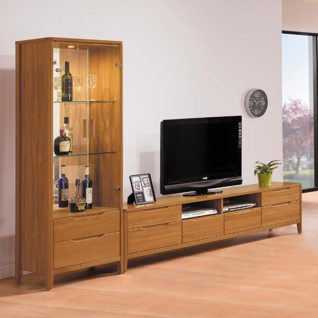 【H&D】米堤柚木系列9尺L型櫃(電視櫃)