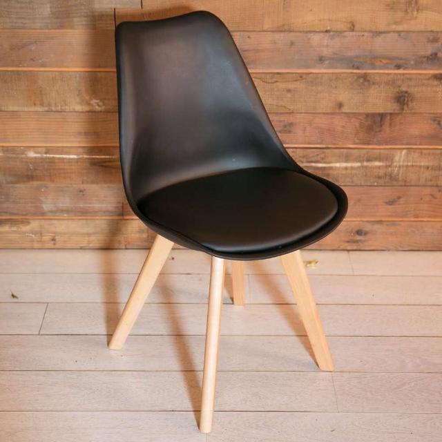 【Ashley House】Hildr 北歐系列皮革設計休閒椅(餐椅 戶外椅)
