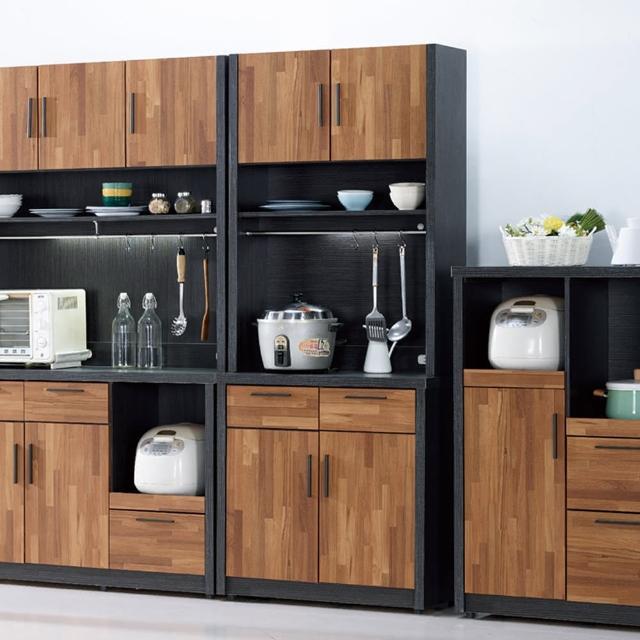 【H&D】尚恩2.7尺雙色碗盤櫃全組