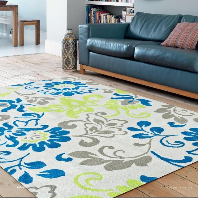 【Ambience】Iris 超細纖維長毛地毯(彩漾花卉 150x220cm)