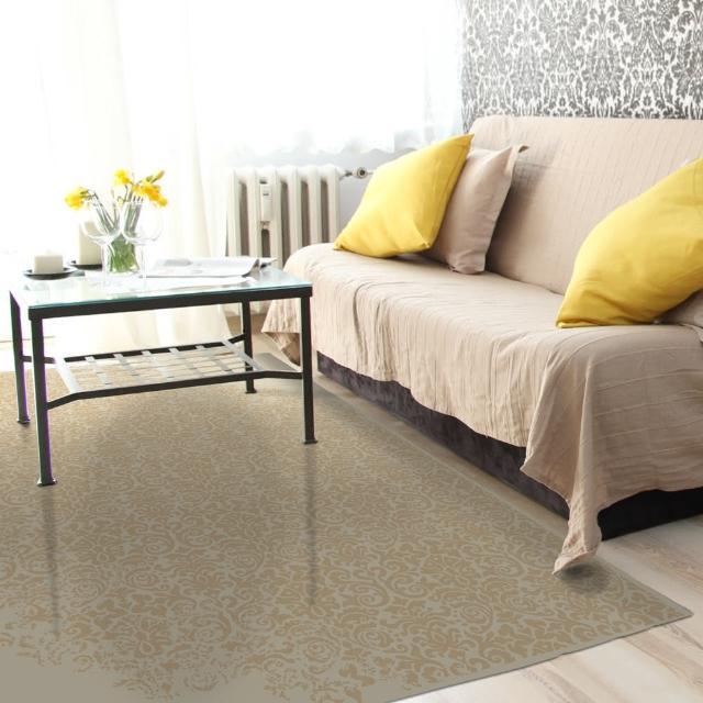 【范登伯格】卡斯☆頂級立體雕花絲質地毯-美藤(100x140cm)