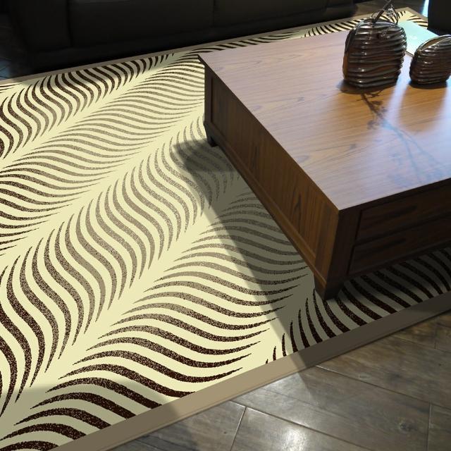 【范登伯格】卡斯☆頂級立體雕花絲質地毯-羽飛(100x140cm)