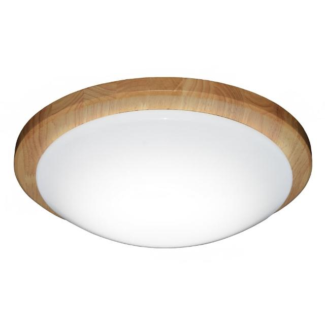 【華燈市】北歐風圓木框LED35W吸頂燈(白光)