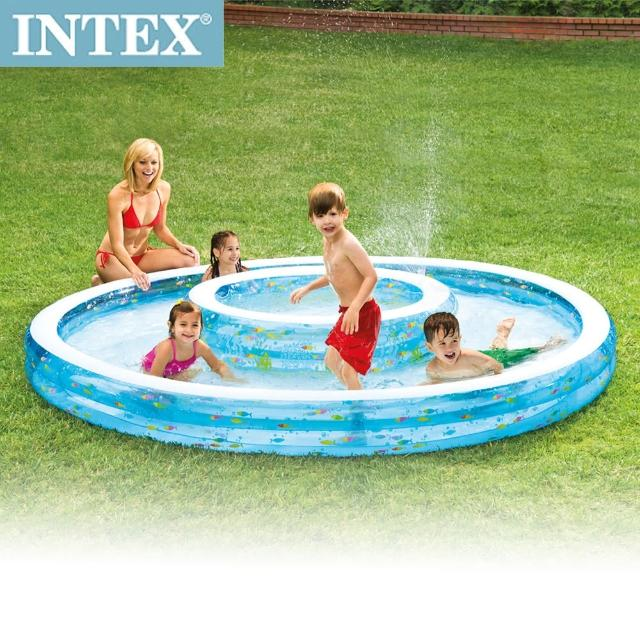 【INTEX】同心圓戲水游泳池279-36cm(1222L -57143)