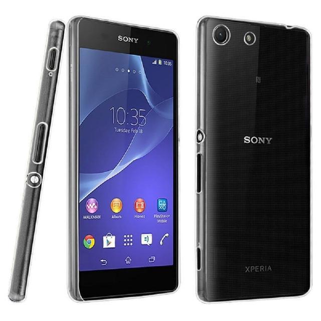 【Sony】Xperia M5 晶亮透明 TPU 高質感軟式手機殼-保護套 光學紋理設計防指紋