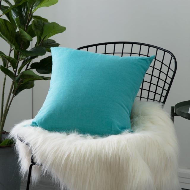 【IN-HOUSE】棉麻抱枕-土耳其藍(45x45cm)