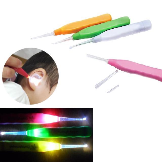 【kiret】日本 LED發光挖耳器3入-顏色隨機(耳勺 安全挖耳朵)