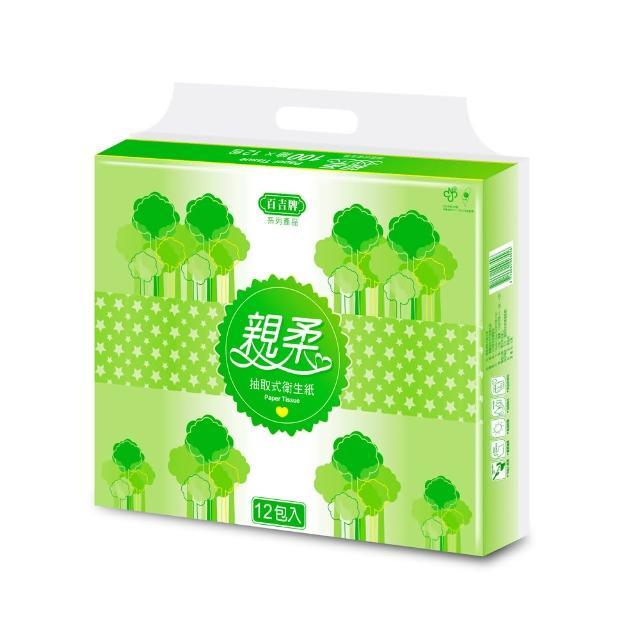 【百吉牌】親柔抽取式衛生紙100抽-64包
