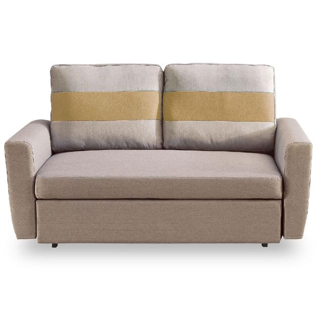 【時尚屋】莫妮卡雙人座淺咖色布沙發床 MT7-340-3(免組裝 免運費 沙發)