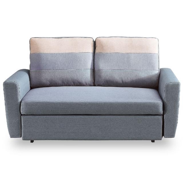 【時尚屋】莫妮卡雙人座灰色布沙發床 MT7-340-2(免組裝 免運費 沙發)