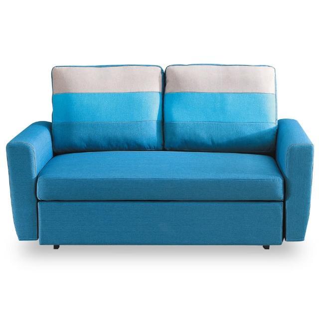 【時尚屋】莫妮卡雙人座藍色布沙發床 MT7-340-1(免組裝 免運費 沙發)