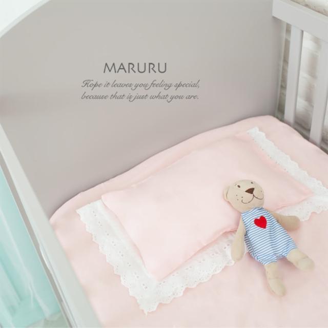 【MARURU】日本製嬰兒床單 嬰兒粉 70x130(日本製嬰兒寶寶baby床單-適用70x130嬰兒床墊)