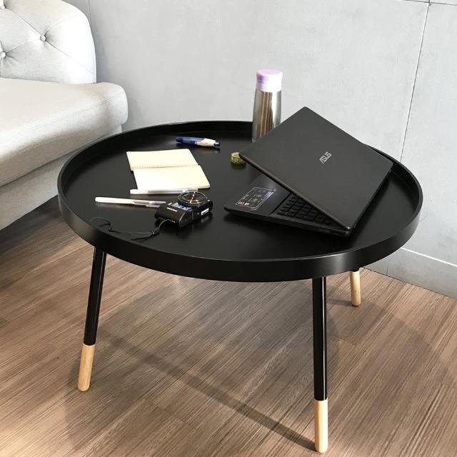 【伊登沙發床】『霍伯特』簡約三色工業風木製和室桌-矮桌-圓桌-茶几