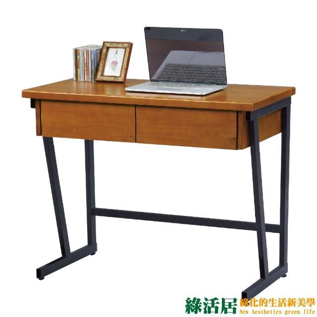 【綠活居】薛克爾    時尚3尺實木工業風書桌-電腦桌