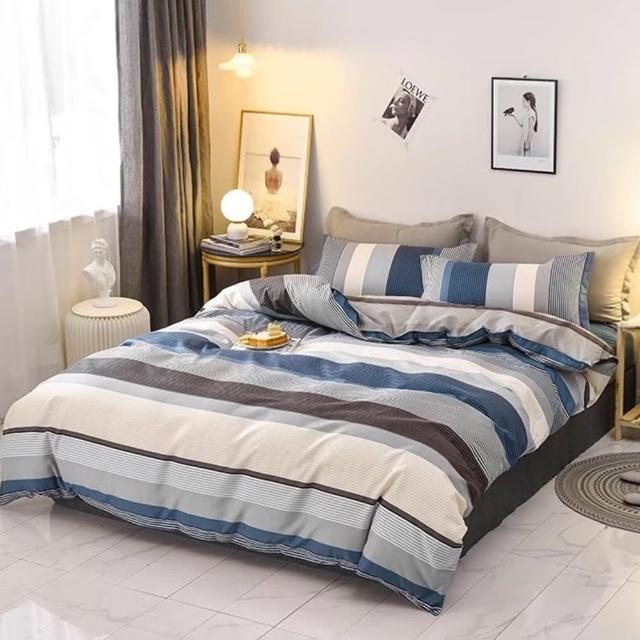 【Annette】MIT台灣精 舒柔棉 單人3.5x6.2尺三件式床包升級雙人被套組《初戀》