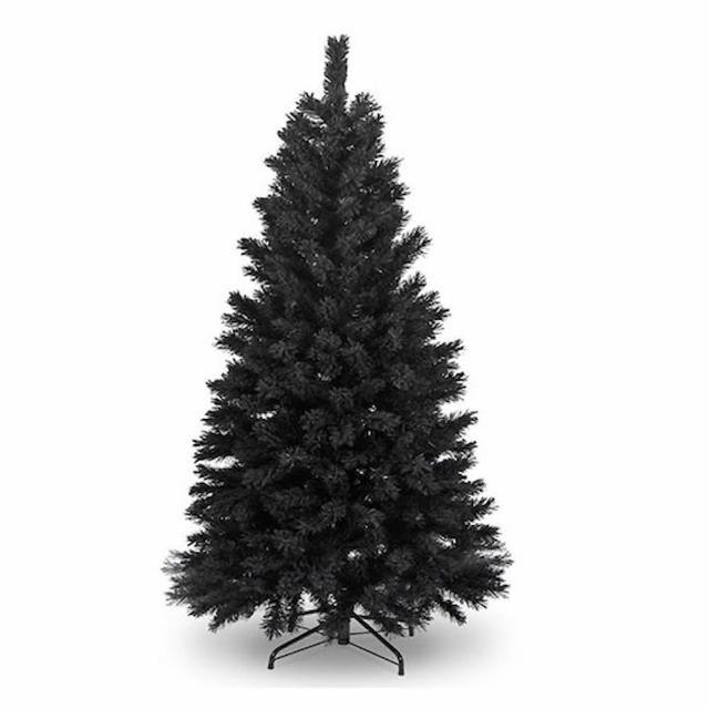 【摩達客】台灣製6尺-6呎 180cm 時尚豪華版黑色聖誕樹 裸樹(不含飾品 不含燈)