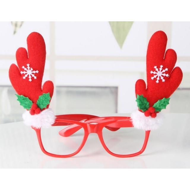 【摩達客】聖誕派對造型眼鏡(紅鹿角)