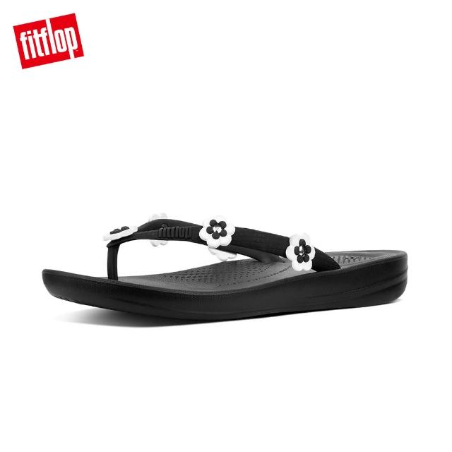 【FitFlop】IQUSHION TM ERGONOMIC FLIP FLOPS - FLOWER-STUD(黑色)