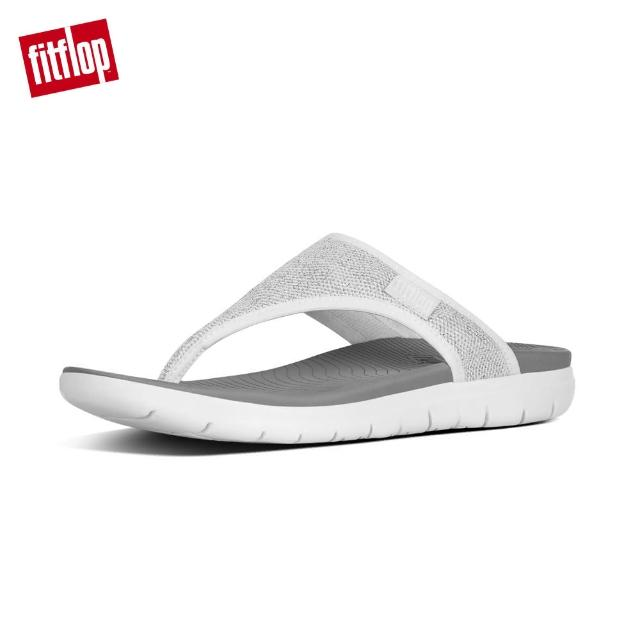 【FitFlop】UBERKNIT TOE-THONGS(都會白/銀色)