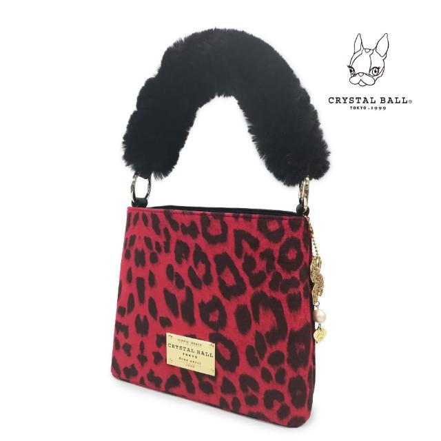 【CRYSTAL BALL】Fluffy Leopard mini Handbag優雅手提包