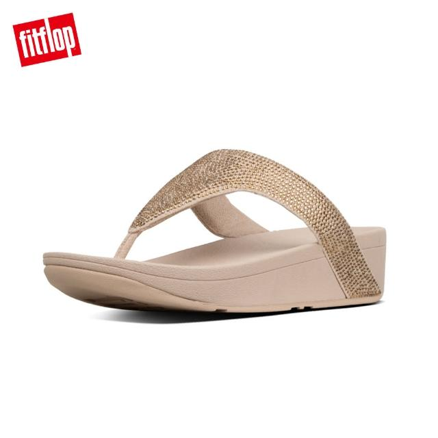 【FitFlop】LOTTIE SHIMMERCRYSTAL TOE-THONGS(黃金色)