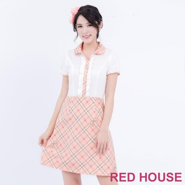 【RED HOUSE 蕾赫斯】POLO衫格子洋裝(共2色)
