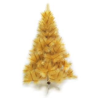 【聖誕樹】台灣製4尺/4呎120cm特級金色松針葉聖誕樹裸樹-不含飾品-不含燈/