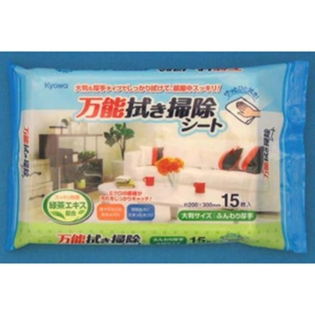 【WAVA】日本KYOWA萬用清潔綠茶配方擦拭巾15入/