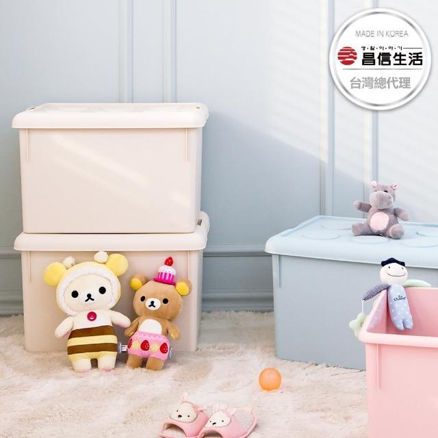 【韓國昌信生活】FRANCO積木居家收納箱62L(三色任選)/