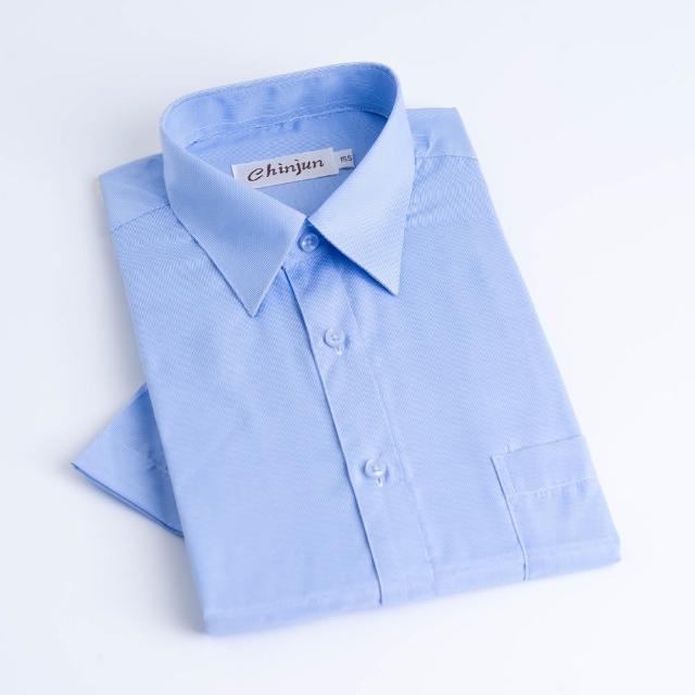 【CHINJUN】抗皺襯衫-短袖,藍細條紋,型號s8025(#CHINJUN#勁榮#襯衫#短袖#條紋#商務)/