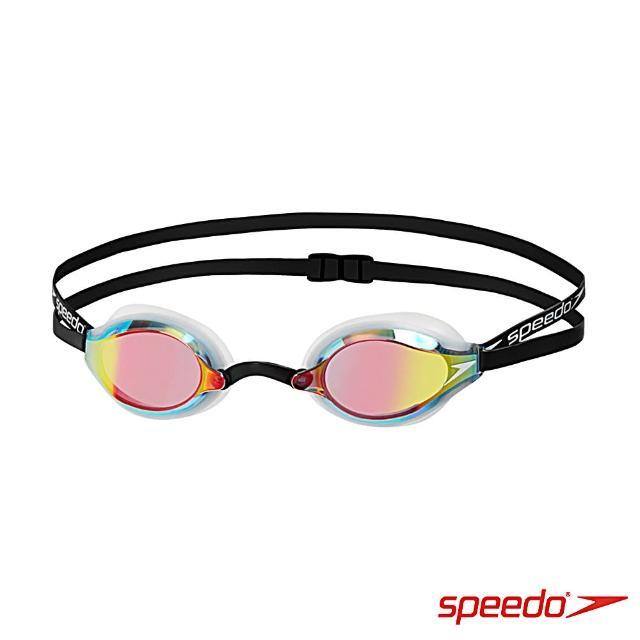 【SPEEDO】成人競技鏡面泳鏡