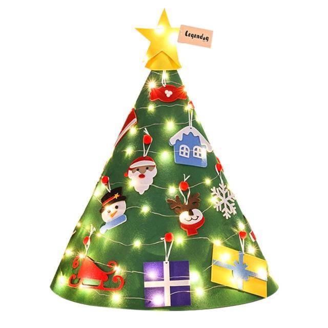 【Conalife】立體燈串羊毛氈聖誕樹