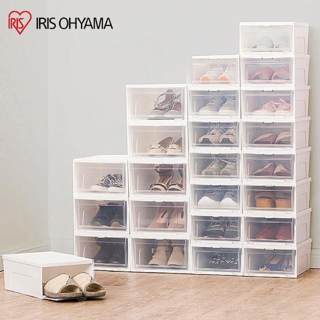 【IRIS】6入透明收納鞋盒