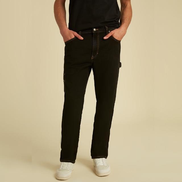 【GUESS】男裝-ORIGINALS系列工裝造型直筒牛仔褲-黑(M1GA06R4AS0GVBW)/