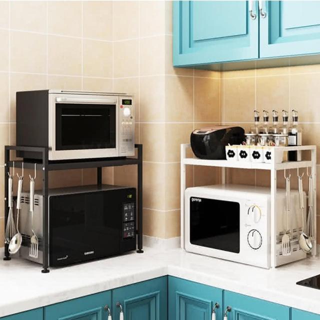 【KCS嚴選】昇級版廚房加大耐重伸縮置物架(伸縮設計好搭配)/