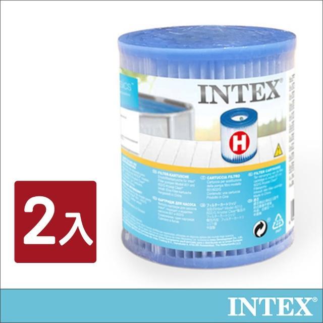 【INTEX】游泳池配件-簡易濾水器濾心桶(2入組_29007E)/