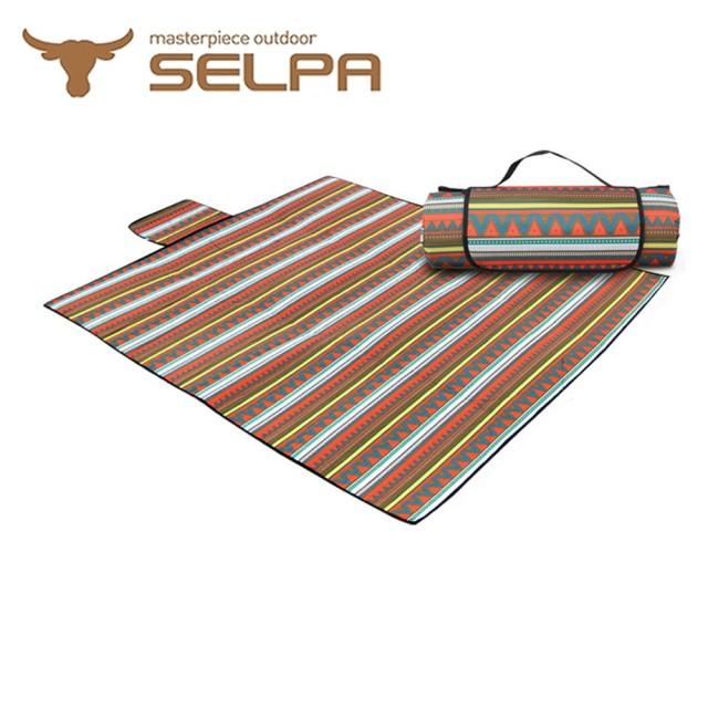 【韓國SELPA】防水雙面可用繽紛野餐墊(一般型)