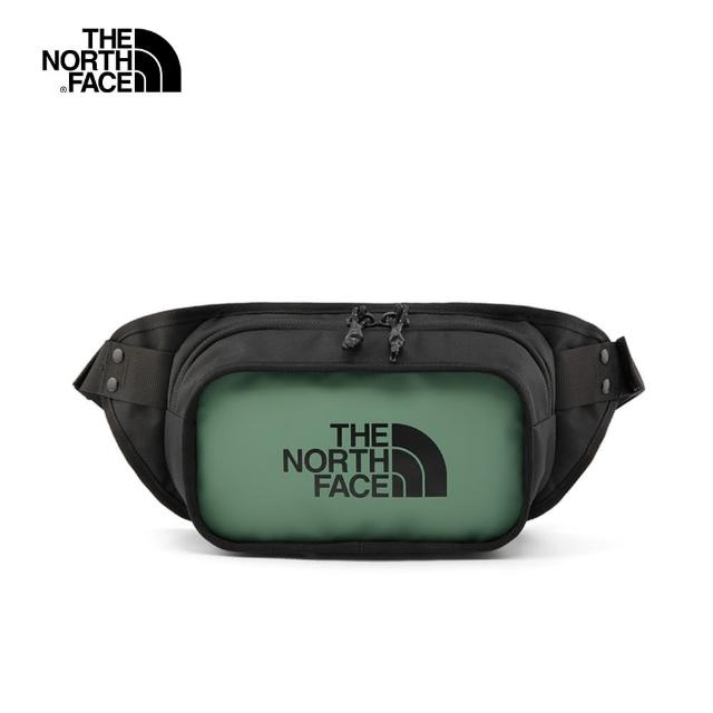 【The North Face】The North Face北面男女款綠色休閒腰包|3KZXYXN