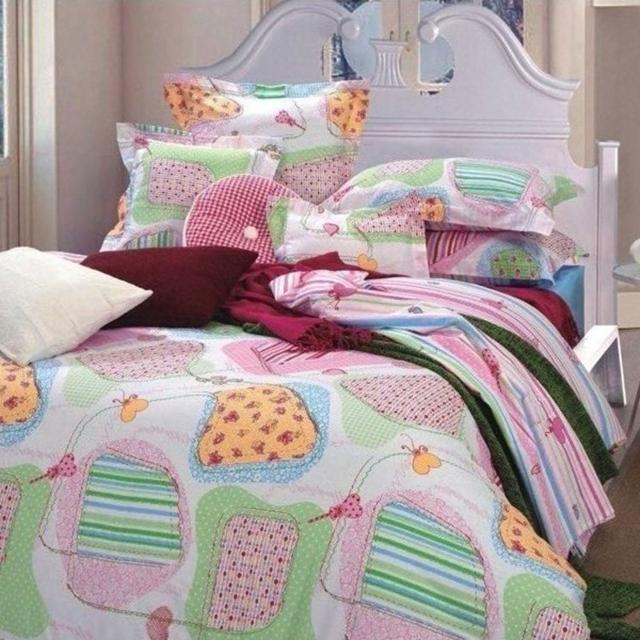 【情定巴黎】糖果屋 100%精梳純棉雙人八件式全鋪棉床罩組(床包可包覆35cm)
