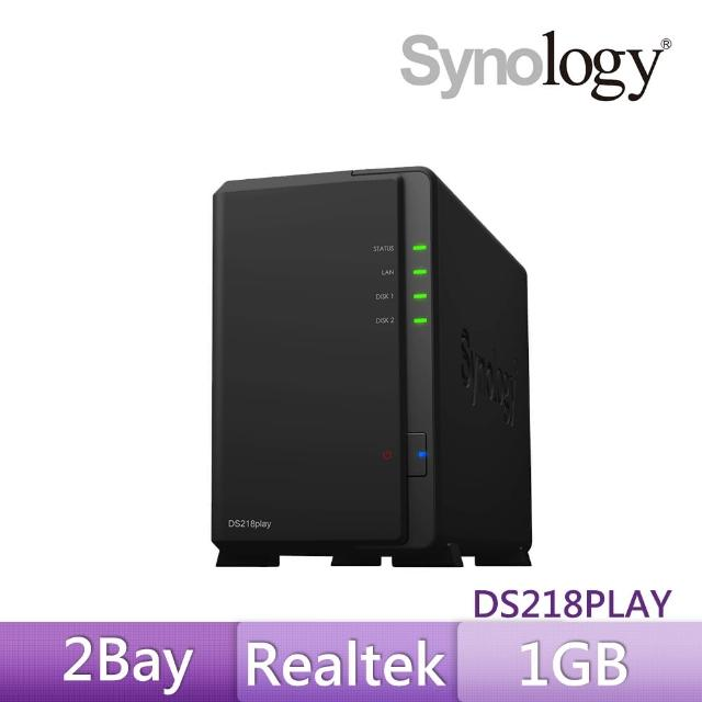 【ASUS分享器組】Synology DS218play【TOSHIBA 4TB x2】NAS硬碟 +【ASUS】四天線雙頻WIFI路由器